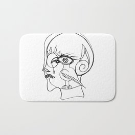 Man with bird Bath Mat