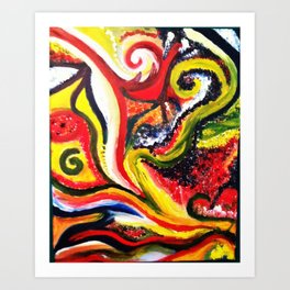 Golden Spirals Art Print
