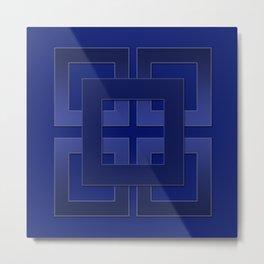 Indigo , blue Metal Print