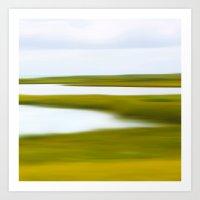Abstract Nantucket Marsh Art Print
