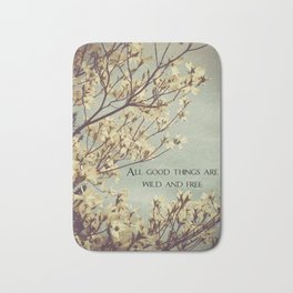 Wild & Free, Great Quotes, Wise Words, Wild, Free, Wild and Free Bath Mat