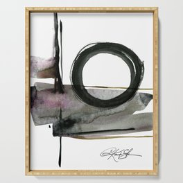 Enso Abstraction No. 112 by Kathy morton Stanion Serving Tray
