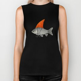 Goldfish with a Shark Fin Biker Tank