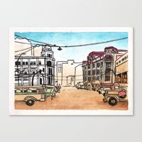 philippines Canvas Prints featuring Philippines : Escolta by Ryan Sumo