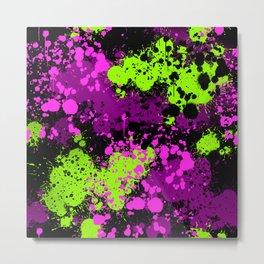Paint splatter seamless pattern Metal Print