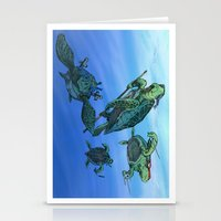 ninja turtles Stationery Cards featuring Ninja Turtles by MrDenmac