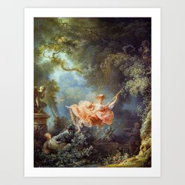 Jean-Honoré Fragonard - The Swing Art Print