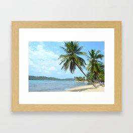 The Caribbean beach 01 Framed Art Print