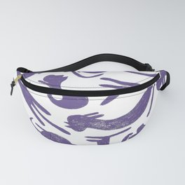Ultra Violet Cats Fanny Pack