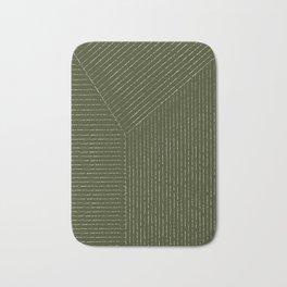 Lines (Olive Green) Bath Mat