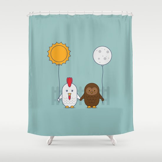 Early Bird & Night Owl Shower Curtain