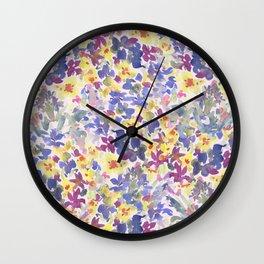 Lovely Little Wildflowers Wall Clock