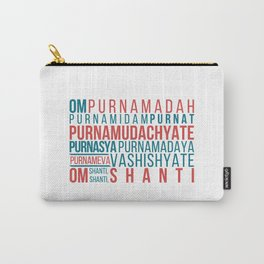 Om Purnamadah Mantra Yoga Carry-All Pouch