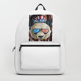 Panda US Flag on 4th Of July Backpack