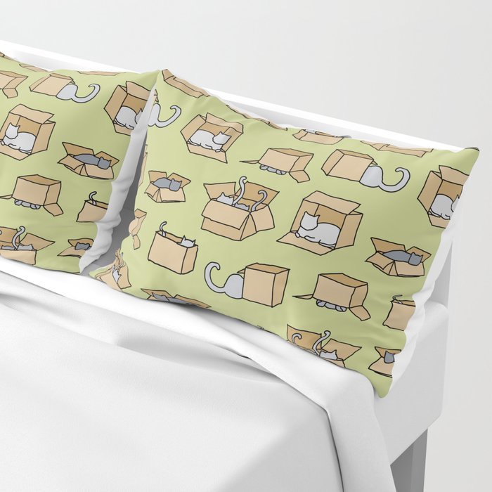 Cats in Cardboard Boxes Pillow Sham