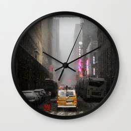 Snow Empire - NYC Wall Clock