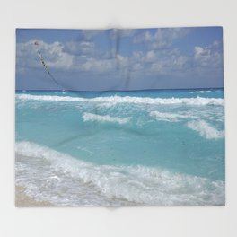 Carribean sea 3 Throw Blanket