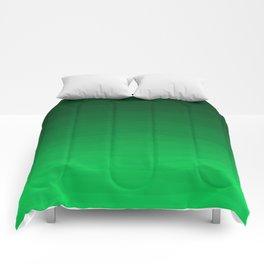 Happy Bright Apple Green Ombre Comforters
