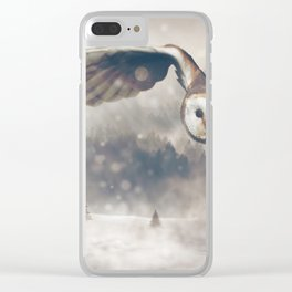 Owl Hunt Mouse Clear iPhone Case