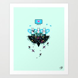 The Social Butterflies Art Print