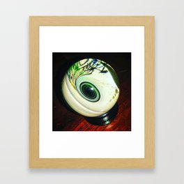 Black Hole Marble Framed Art Print