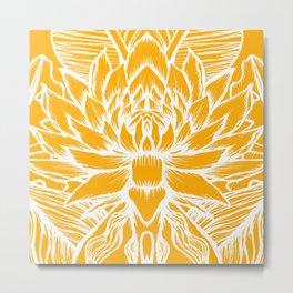 Golden Yellow Lotus Metal Print