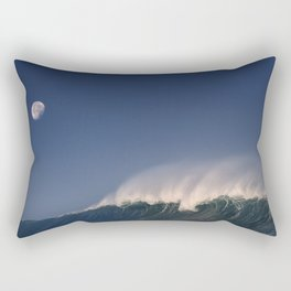 Moon Over Waimea Bay. Rectangular Pillow