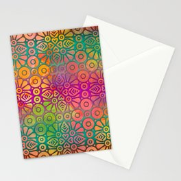 DP050-2 Colorful Moroccan pattern Stationery Cards