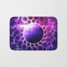 Deep Dream Fractal Mandala - Deep Space Galaxy Dreamer Bath Mat