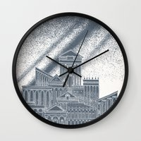 saturn Wall Clocks featuring Saturn by David Fleck