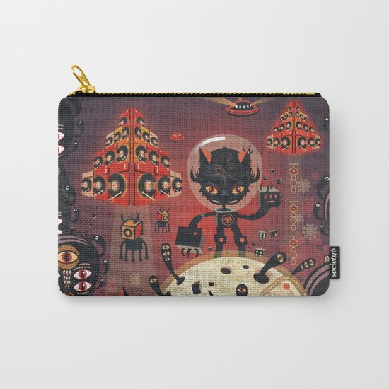 DJ Hammerhand cat - party at ogm garden Carry-All Pouch
