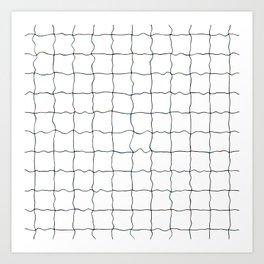 Swimming Pool Grid - Underwater Grid Art Print