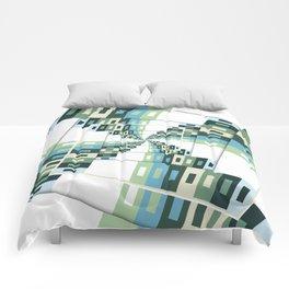 Retro Geometric Rotation Comforters