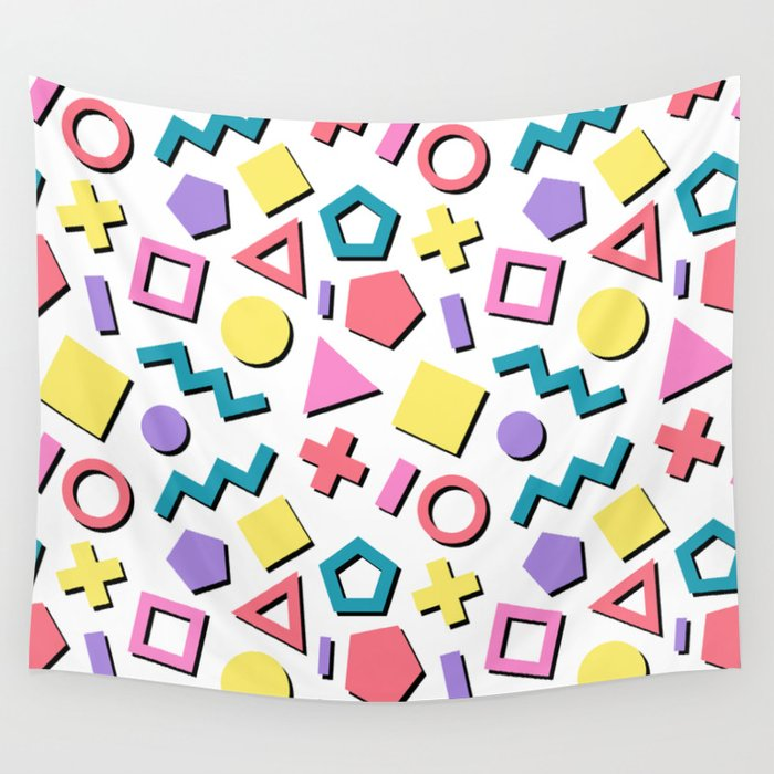 Pastel 90's Pattern Wall Tapestry by cinacatteau