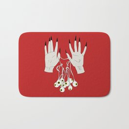 Creepy Hands Holding Eyes Bath Mat