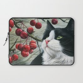Tuxedo and Crab Apples Laptop Sleeve