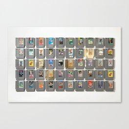 50 Nintendo Games Canvas Print