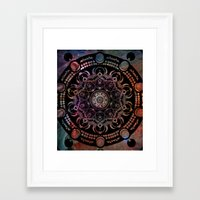 chakra Framed Art Prints featuring CHAKRA by Spectronium - Art by Pat McWain
