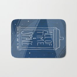 All Of Time And Space Bath Mat