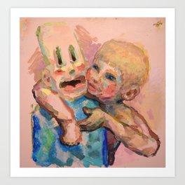 Worthless Refuse (Two boys) Art Print