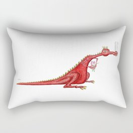 Dragon with flowers Rectangular Pillow