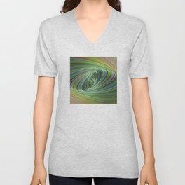 Green Eye of the Storm Unisex V-Neck