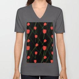 Tulip Dance #Illustration Unisex V-Neck