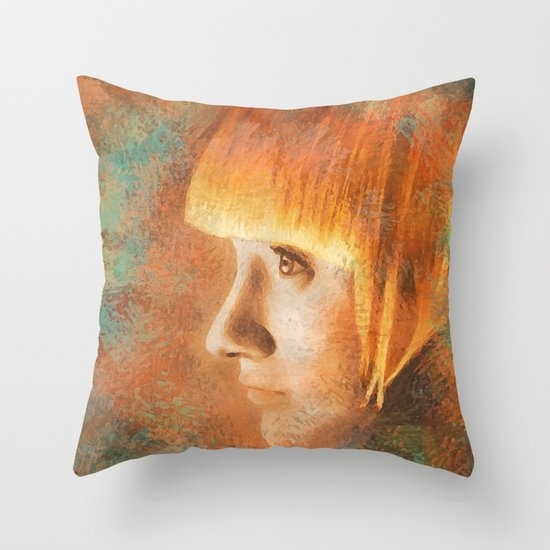 Citric Burn Throw Pillow