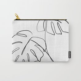 Monstera minimal Carry-All Pouch