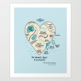 The Introvert's Heart Art Print