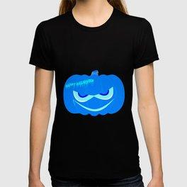 Evil Blue Halloween Pumpkin T-shirt