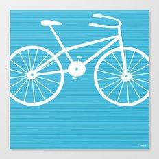 Blue Bike by Friztin Canvas Print