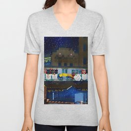 Fab Five Freddy Campbell's Soup Subway Train - Harlem to Bronx Portrait Painting by Jeanpaul Ferro Unisex V-Neck