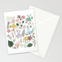 Springtime In The Bunny Garden Of Floral Delights Stationery Cards
